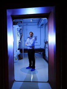 SAHMRI physicist Prab Takar inside the most secure bunker in South Australia. Picture: Mark Brake Source: News Corp Australia